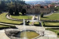 Villa della Regina with city of Turin as backdrop