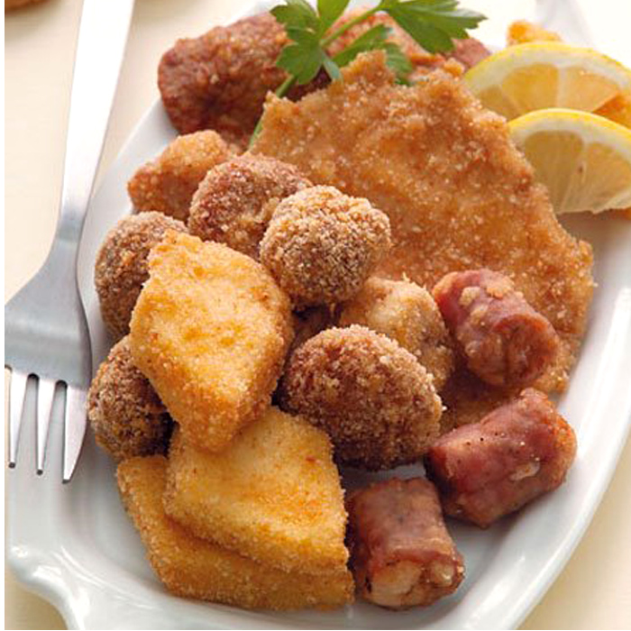 Fritto misto on a plate