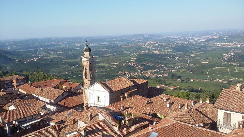 panoramic view of La Morra along Piedmont's Wine Roads
