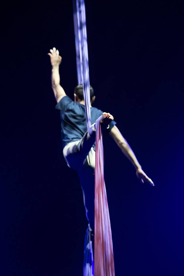 A Unique Experience in Turin - Cirko Vertigo - performing live in on aerial silks