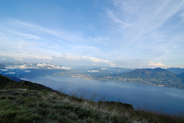 the Cadorna Zipline - views over the valley with lake maggiore below