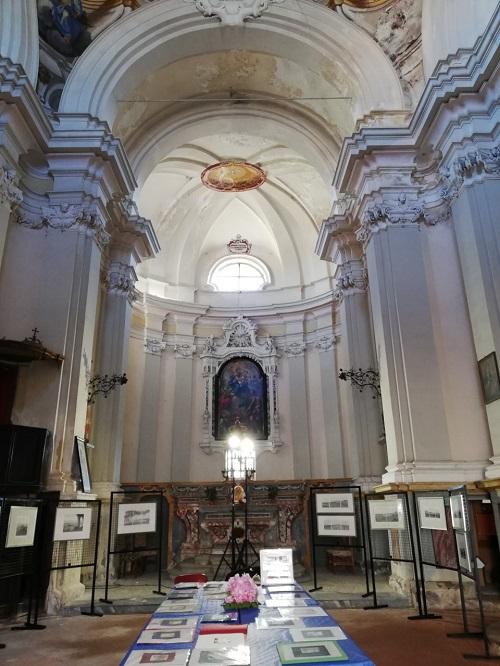 La Morra art exhibit in church
