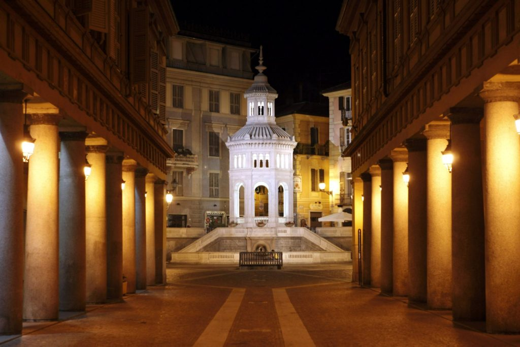 Piedmont off the beaten track includes a stop Acqui Terme by night