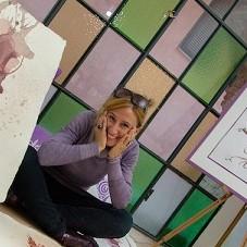 Barolo Artist PurpleRyta image - Artist in Barolo who creates wine art